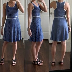 Ann Taylor blue white printed dress